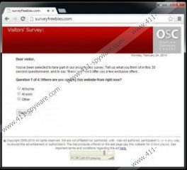 Online Surveys Center popup