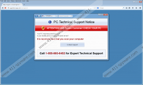 Technical Support Scam message