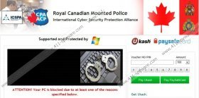 Royal Canadian Mounted Police Mac OS X virus