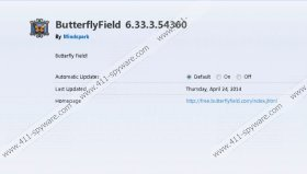 ButterflyField Toolbar