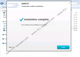 Qwest Toolbar