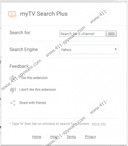 myTV Search Plus Extension | 411-spyware