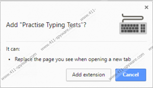 Practise Typing Tests Extension