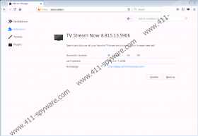TVStreamNow Toolbar