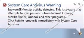 System Care Antivirus Warning