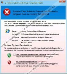 System Care Antivirus Warning