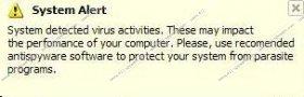 System Alert Pop-ups