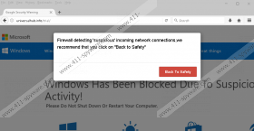 Firewall Detected Suspicious Network Connections fake alert