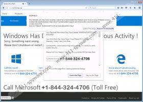 Call Windows Help Desk Immediately Tech Support fake alert