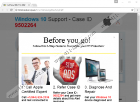 Windows 7 Support - Case ID Fake Tech Support