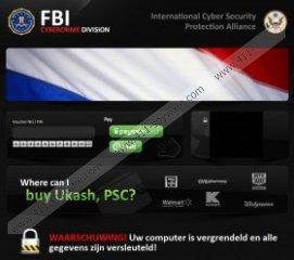 Uw computer is vergrendeld en alle gegevens zijn versleuteld! Virus