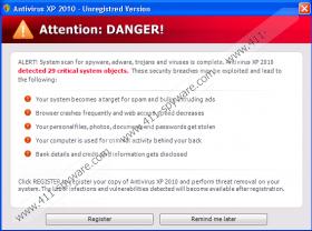 Antivirus XP 2010