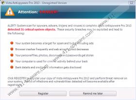 Vista Antivirus Pro 2013