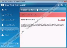 Sirius Win 7 Protection 2014