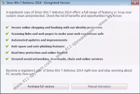 Sirius Win 7 Protection 2014