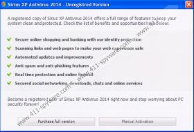 Sirius Win XP Antispyware 2014