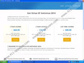 Sirius Win XP Antivirus 2014