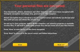 Your personal files are encrypted