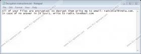 Radxlove7@india.com Ransomware