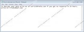 Ceri133@india.com Ransomware