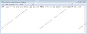 Systemdown@india.com Ransomware
