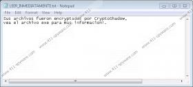 Cryptoshadow Ransomware