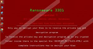 3301 Ransomware