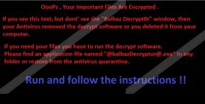 Balbaz Ransomware