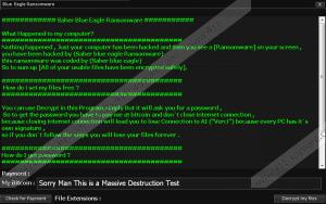 BlueEagle Ransomware