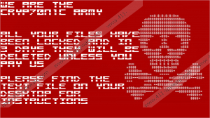Cryp70n1c Ransomware