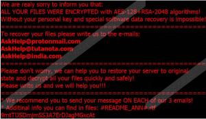 AskHelp@protonmail.com Ransomware