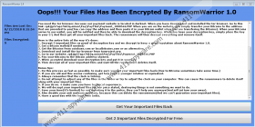 RansomWarrior 1.0 Ransomware
